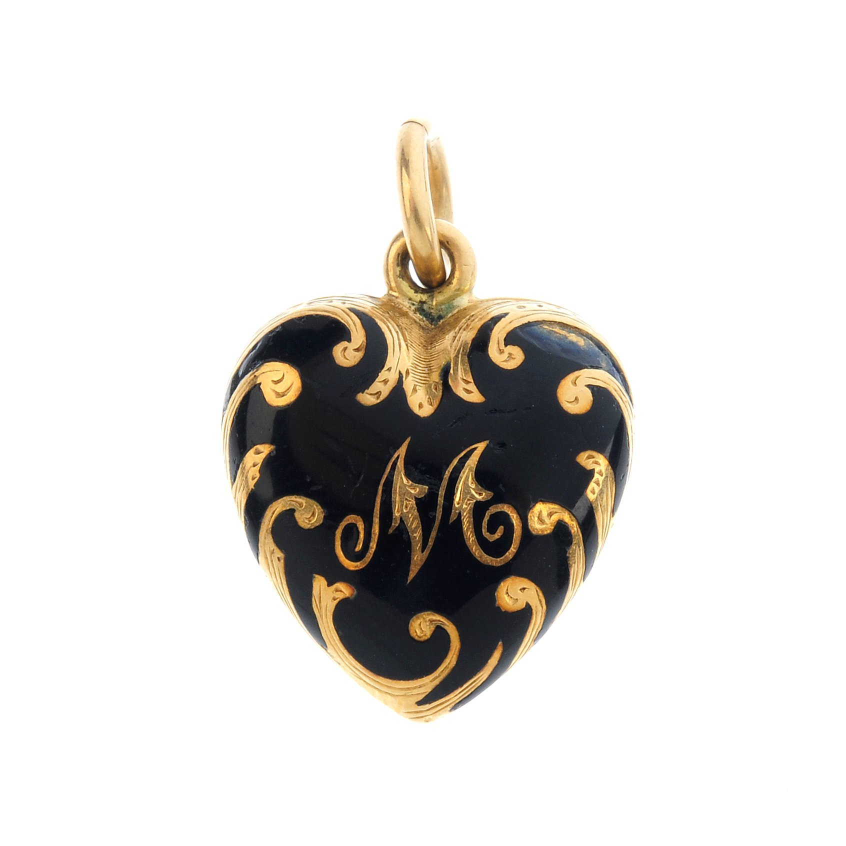 "<a href=""https://www.fellows.co.uk/2104-lot-376-A-mid-Victorian-gold-enamel-heart-locket?utm_source=Ageless%20Heirlooms&utm_medium=blog&utm_campaign=Ageless%20Heirlooms%20Vintage&utm_content=Blog%20and%20social"">LOT 376</a>"